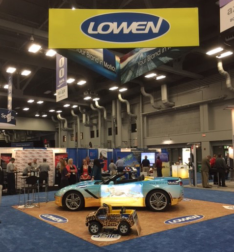 Lowen Color Graphics at NAFA and NPTC 2016 with a Corvette, and a wrapped Power Wheels Ford F-150