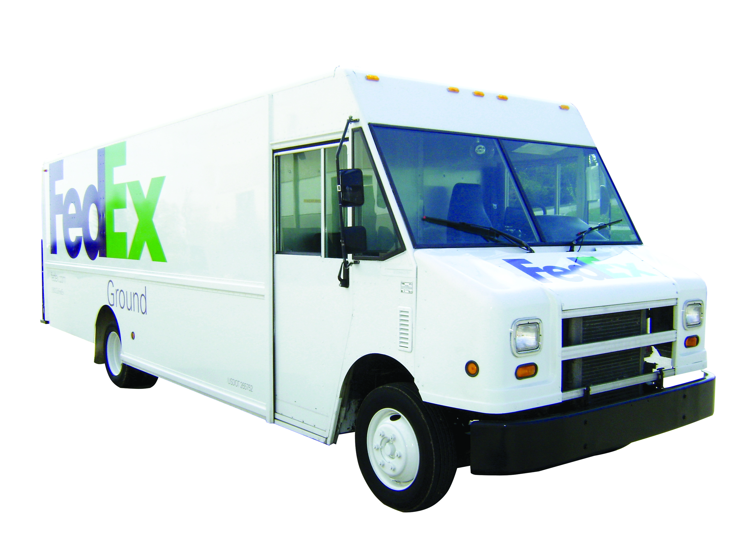 Fed Ex Ground commercial carrier fleet graphics